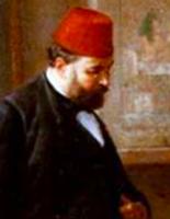(détail d'un tableau de P.D. Philippoteaux, 1891, anc. coll. Roi Fouad)